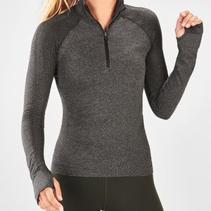 Fabletics Laila Seamless Zip Pullover : Large, NWT